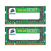 Corsair Microsystems Value Select 2GB Memory Module PC2 5300 667MHz DDR2 SODIMM