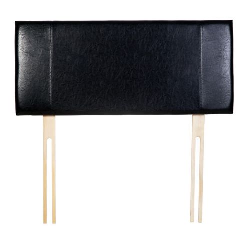 Home Essence Milano Panel Headboard - Single - Black