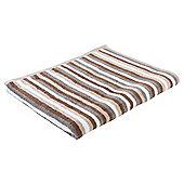 Tesco Stripe Towel - Brown