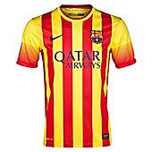 2013-14 Barcelona Away Nike Football Shirt (Kids) - Red