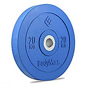 Bodymax Olympic Rubber Bumper Plate - Blue 20kg