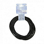 Leather Cord 3mm Round Black 5yds