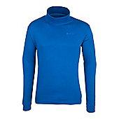 Meribel Mens Cotton Roll Neck Top - Blue