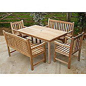 Warwick Bench Teak Set