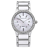 Karen Millen Ceramic Ladies Swarovski Elements Watch - KM122SM