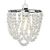 Swing Droplet Acrylic Crystal Ceiling Pendant Light Shade in Clear
