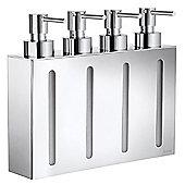 Smedbo Outline Wallmount Soap and Lotion Dispenser 4 Pumps