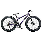 "Coyote Fat Tyre 17"" Mountain Bike, Purple"