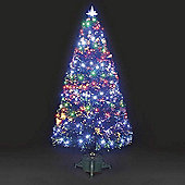 6ft Galaxy Multi-Colour Fibre Optic Christmas Tree with LEDs