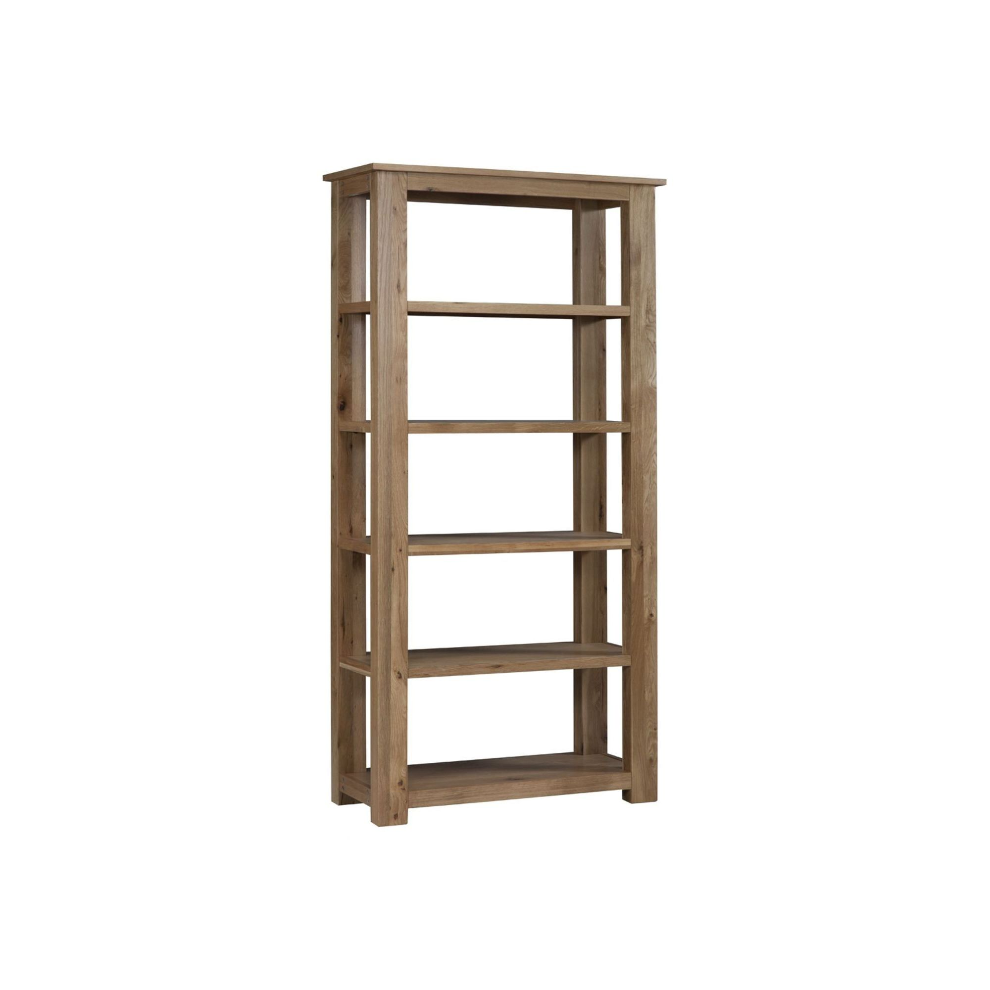 Kelburn Furniture Lyon 5 Shelves Bookcase in Light Oak Matt Lacquer at Tesco Direct