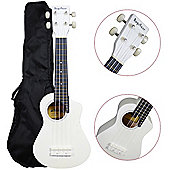 Bugs Gear Lorenzo Ukulele with Bag - White