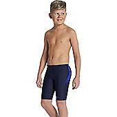 Speedo Boys Sports Logo Panel Jammer - Navy