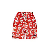 Dudeskin Floral Board Shorts - Red