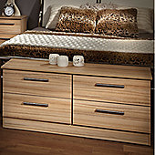 Welcome Furniture Contrast 4 Drawer Chest - Cocobola
