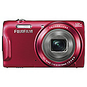 "Fuji T500 Digital Camera, Red, 16 MP, 12x Optical Zoom, 2.7"" LCD Screen"