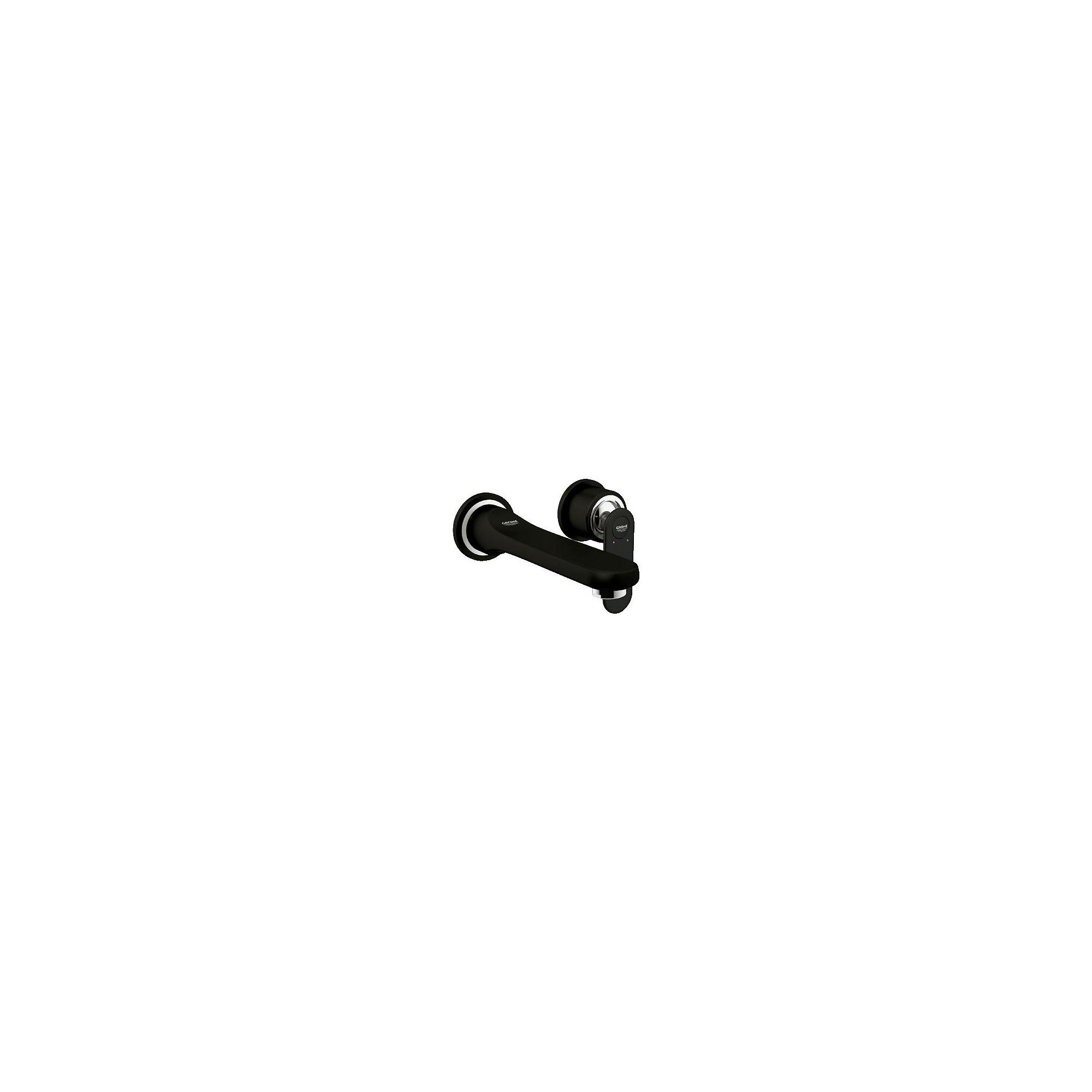 Grohe Veris 2-Hole Basin Mixer Tap, Wall Mounted, Velvet Black at Tesco Direct