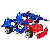 Transformers Construct Bots Beast Hunters Smokescreen - 55 Pieces