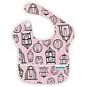 SuperBib Girls Pink Birdcages