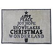Washable Indoor Christmas Mat - Wonderland