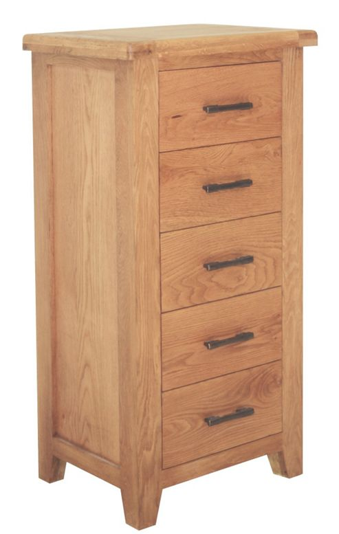 Furniture Link Hampshire 5 Drawer Slim Chest