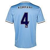 2013-14 Man City Home Shirt (Kompany 4) - Ocean blue