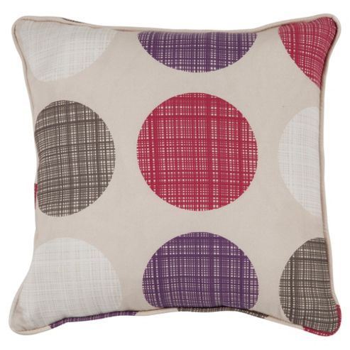 Tesco Saturn Cushion  Red/Plum
