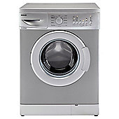 Beko WMB51221S Washing Machine, 5kg Wash Load, 1200 RPM Spin, A+ Energy Rating. Silver