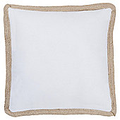 Woven Edge Cushion White