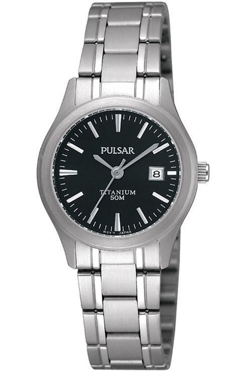 Pulsar Ladies Titanium Watch PXT877X1