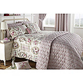 Dreams n Drapes Pretty as a Picture Curtains 66x72 inches (168x183cm) inc tiebacks - Rose