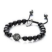 Shimla Ladies Shiny Black Onyx Bracelet - SH-175