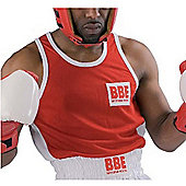 BBE Britannia Boxing - Red And White Adult Boxing Vest Small