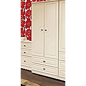 Welcome Furniture Pembroke Wardrobe with 2 Drawers - Cream - 74 cm