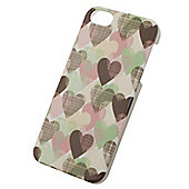 Tortoise™ Hard Protective Case, iPhone 5/5S. White with Hearts design