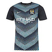 2013-14 Man City Nike Pre-Match Training Jersey (Navy) - Navy