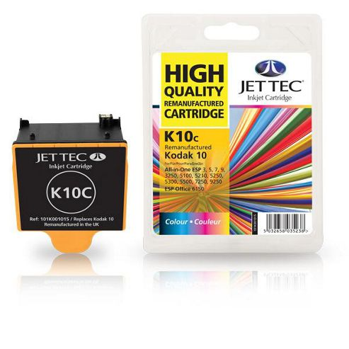 Kodak 10C Colour Compatible Ink Cartridge by JetTec - K10C