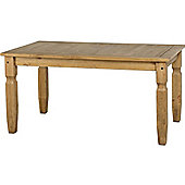 Corona Mexican 5' Dining Table Distressed Waxed Pine
