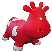 Betsy inflatable cow space hopper - red & white