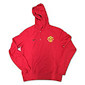 2012-13 Man Utd Nike Core Hooded Top (Red) - Red