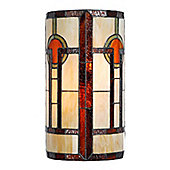 Arcade 35cm Two Light Cylindrical Wall Lamp