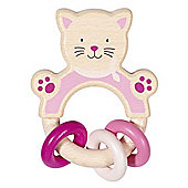 Heimess 763720 Wooden Ring Rattle (Cat)