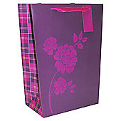 Plum Flocked  Plant bag - large