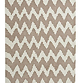 Think Rugs Hong Kong Beige Tufted Rug - 120 cm x 170 cm (3 ft 9 in x 5 ft 7 in)