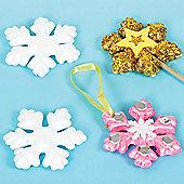 Christmas Polystyrene Snowflakes (10 Pcs)