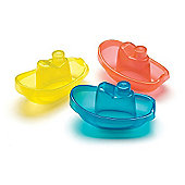 Playgro Bright Baby Boats - Blue, Yellow and Red