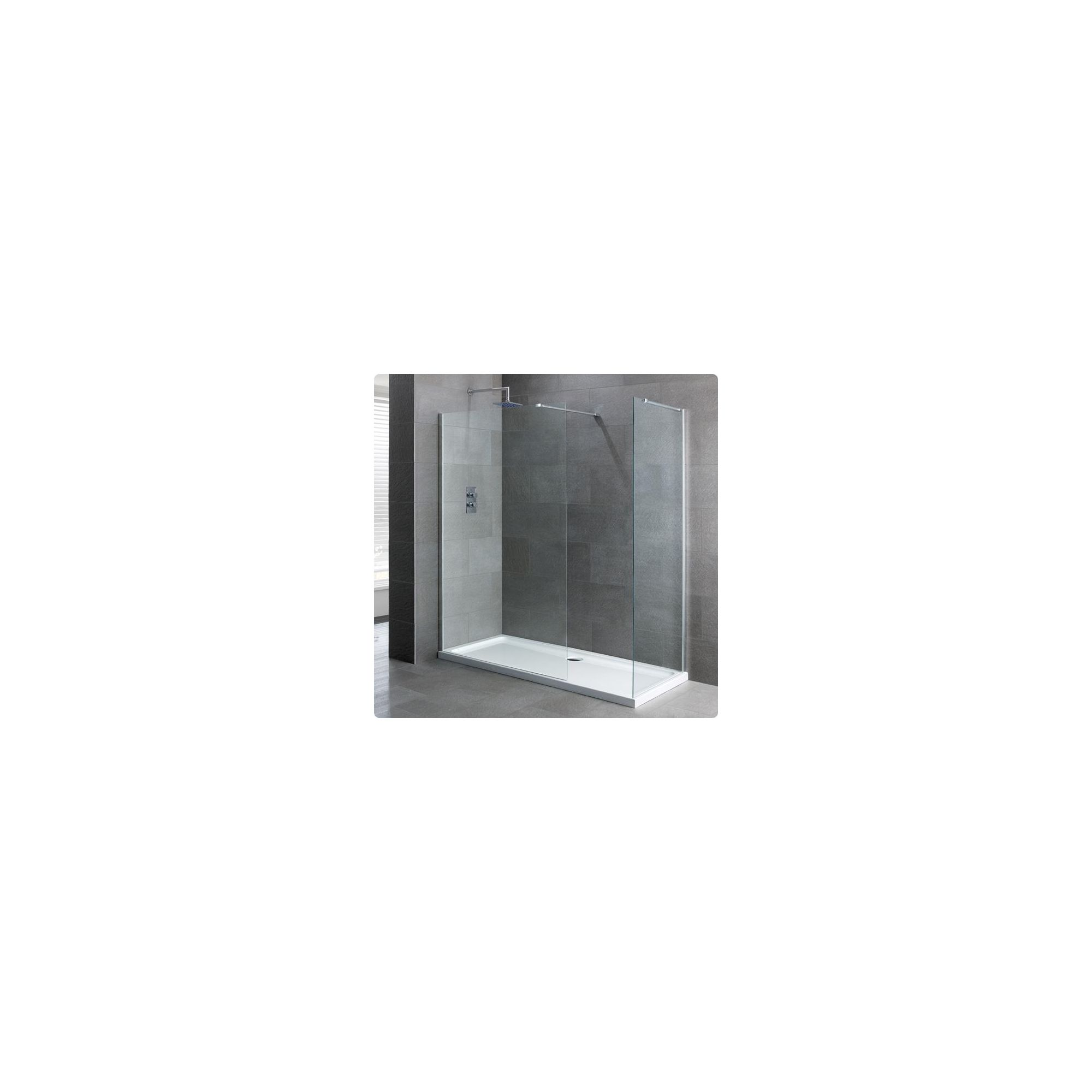 Duchy Select Silver Walk-In Shower Enclosure 1200mm x 700mm, Standard Tray, 6mm Glass at Tesco Direct