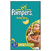 Pampers Baby Dry Size 5+ Large Pack - 48 nappies
