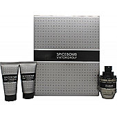 Viktor & Rolf Spicebomb Gift Set 50ml EDT + 50ml Non-Foaming Shaving Cream + 50ml Aftershave Balm For Men