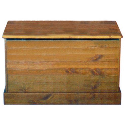 Houston - Wooden Storage Ottoman / Chest - Antique Pine