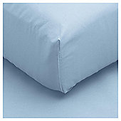 Tesco Fitted Sheet Breeze Blue, Single